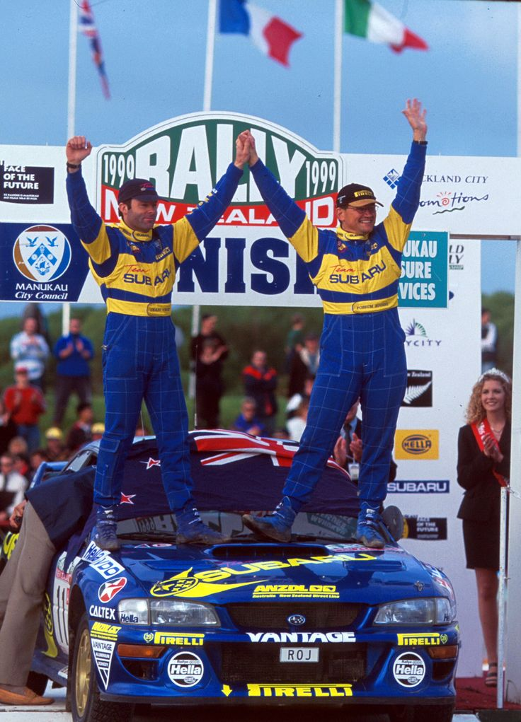 Possum Bourne and Craig Vincent on 1999 Rally of New Zealand