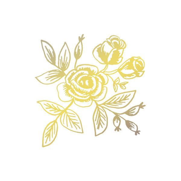 Tattly Temporary Tattoo - Floral - Gold