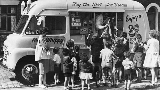 """Ice-cream van. Mr Whippy and """"Greensleeves"""", the sounds of childhood. There are still some vans operating in Sydney suburbs"""