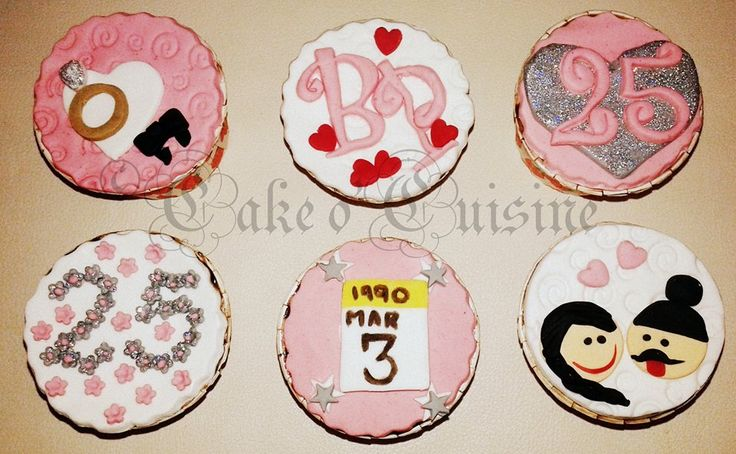 Anniversary themed cupcakes