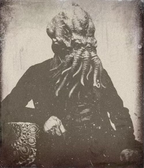 Hell with it. People photoshop all kinds of skit, and the masses believe it. So -- Cthulu. Deal with it.