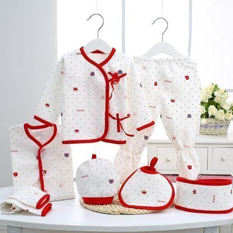 2017 autumn newborn clothing Fashion cotton infant underwear baby boys girls suits set 7pices & 5 pieces clothes for 0-3M #babyboyunderwear #babyunderwear