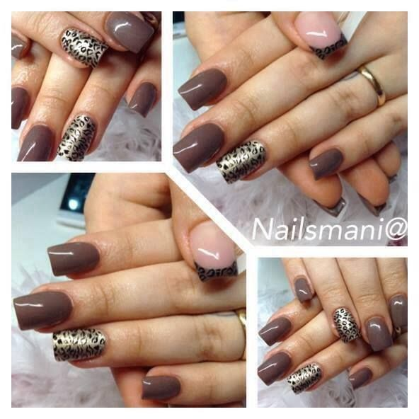 Nailsmani@ #nails #nailart #nailpolish #unghie #leopard
