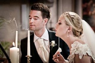Roman Catholic Wedding – Unity Candles Ceremony. Italy www.romanticitalianweddings.com
