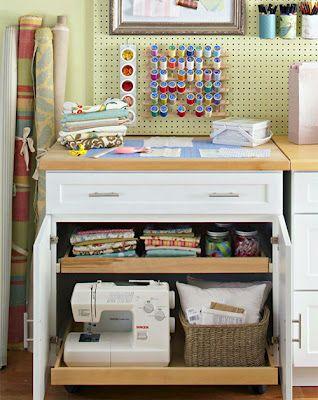 10 Craft Studio and Storage Ideas