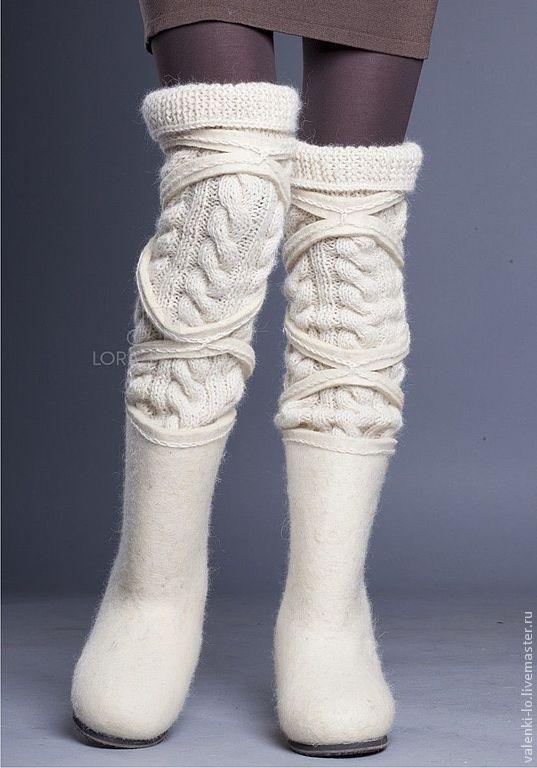 Купить W&W 2013 белые - белый, валенки, валенки для улицы, валенки ручной валки