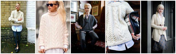 Aran Sweater with Shirt