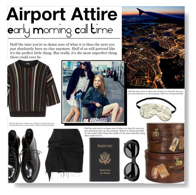 """""""Airport Attire"""" by bella-dawson ❤ liked on Polyvore featuring Levi's, Yves Saint Laurent, ADAM, Acne Studios, Royce Leather, Marques'Almeida, airportstyle, polyvoreeditorial, polyvorecontest and polyvorefashion"""