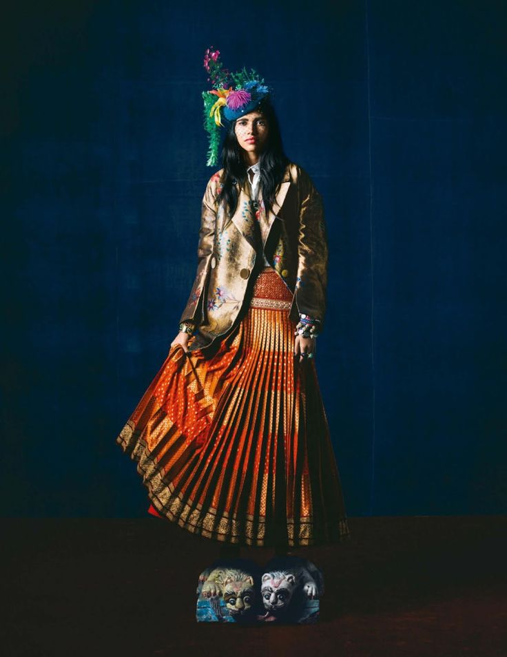 Pooja Mor by Bharat Sikka for Vogue India October 2016