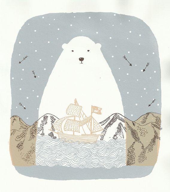 TEHEHEHEHE i secretly love this. | polar bear illustration