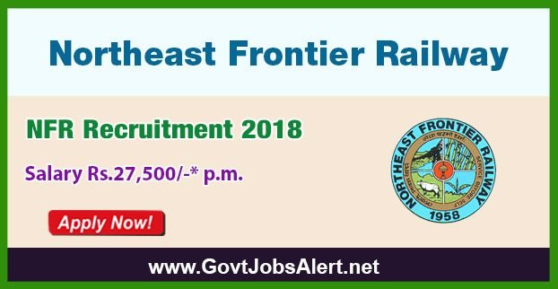 NFR Recruitment 2018 – Walk in Interview for Teacher Posts, Salary Rs.27,500/- : Apply Now !!!  The Northeast Frontier Railway - NFR Recruitment 2018 has released an official employment notification inviting interested and eligible candidates to apply for the positions of Post Graduate Teacher, Trained Graduate Teacher and Primary Teacher. The interested candidates have to attend the walk in interview to apply to the post in the prescribed format website (given below).