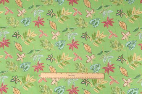 5 Yards Waverly Tropical Tropics Printed Cotton Drapery Fabric