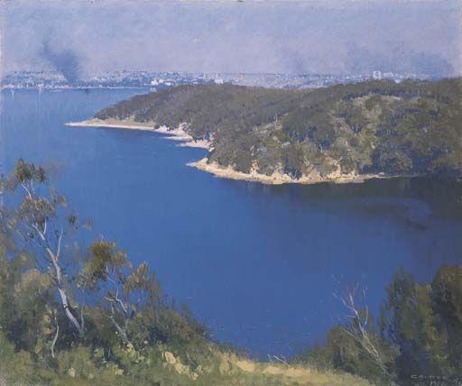 Le port de Sydney de Elioth Gruner (1882-1939, New Zealand)