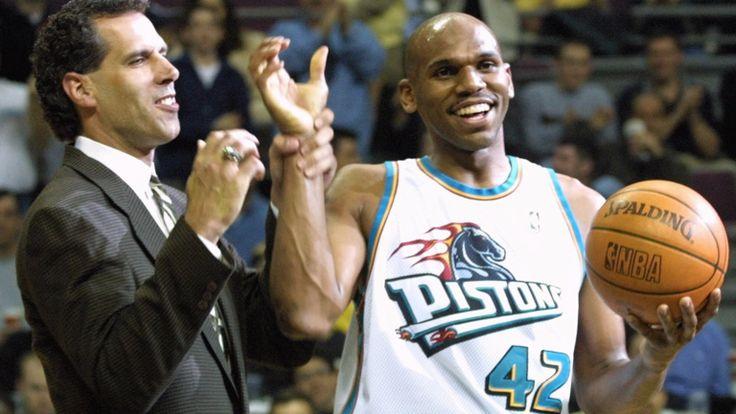 Detroit Pistons early 2000s uniforms