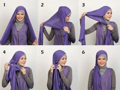 Modern Hijab Styles Tutorials.  They look pretty, not sure if I can achieve the same look...
