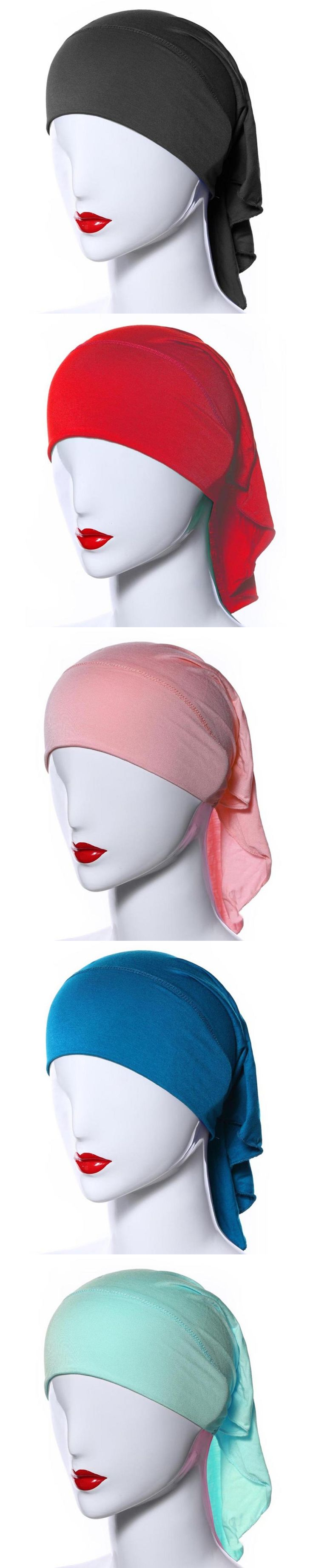 Muslim Headscarf Women Soft Comfortable Inner Hijab Caps Islamic Underscarf Hats Hot PY3