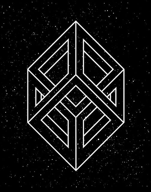 Hypercube, by T/\KEC/\RE (Kostya Sasquatch), Sacred Geometry <3