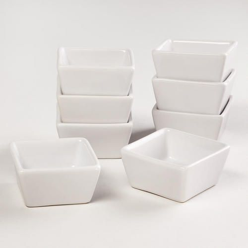 Perfect for your Origami Owl display.  Set of 8 mini square dishes from World Market.  http://loveablelockets.com