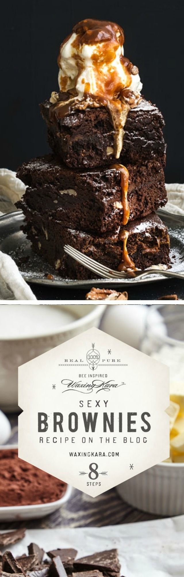 Enjoy this delicious, tasty, indulgent Sexy Brownie recipe, made with natural honey and topped with a creamy sauce. It's the best dessert to share with friends or for a romantic after dinner treat.