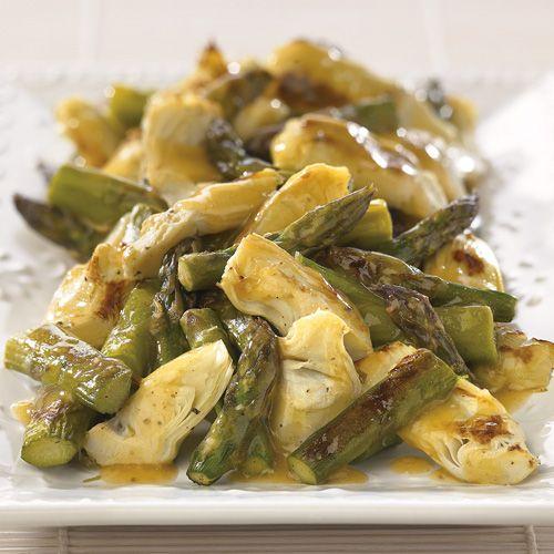 Roasted Asparagus and Artichokes with Lemon Butter Sauce - Wegmans