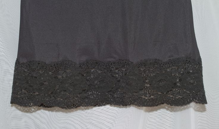 Harvey Woods full slip. Love the lace hem.