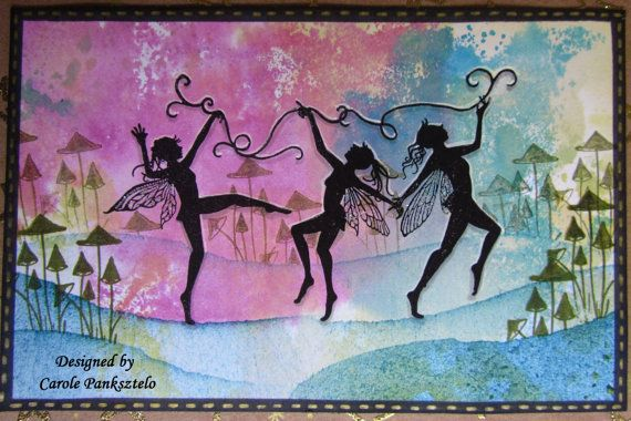 Fairy Greeting Card  Any occasion For Female by CraftyMrsPanky