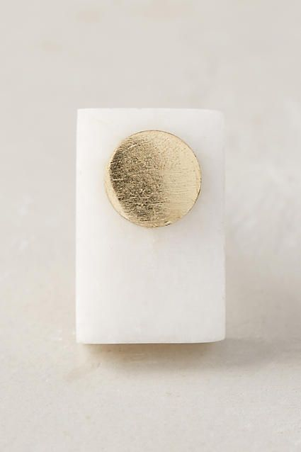 Blocked Marble Knob - anthropologie.com