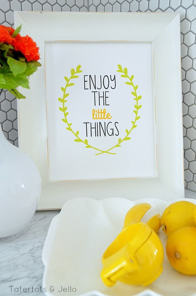 Enjoy the Little Things FREE Printable at Tatertots and Jello #DIY #Printables