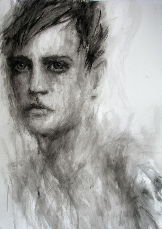 "Saatchi Online Artist: Fiona Maclean; Gouache, 2011, Painting ""Joshua - from The Beautiful Creatures series"""