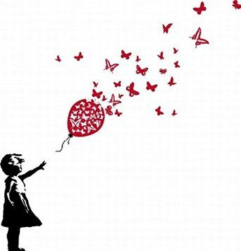 girl with red balloon tattoo - Google Search