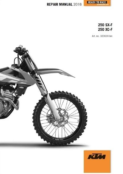 2016 KTM 250 SX-F XC-F Service Repair Manual PDF  Genuine Honda, Yamaha, KTM Service Repair Manuals, Instant PDF Download Go To www.offroadservicepro.com Don't Forget To Subscribe To Our News Letter and Be the First To Hear About New Manuals & News #ktm #honda #yamaha #sxf #crf #yzf #servicemanuals @offroadservicepro