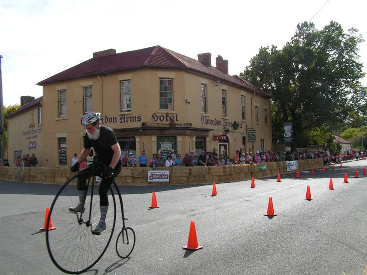 The World Penny Farthing competions, Held late Feburary, Evandale, Northern Tasmania