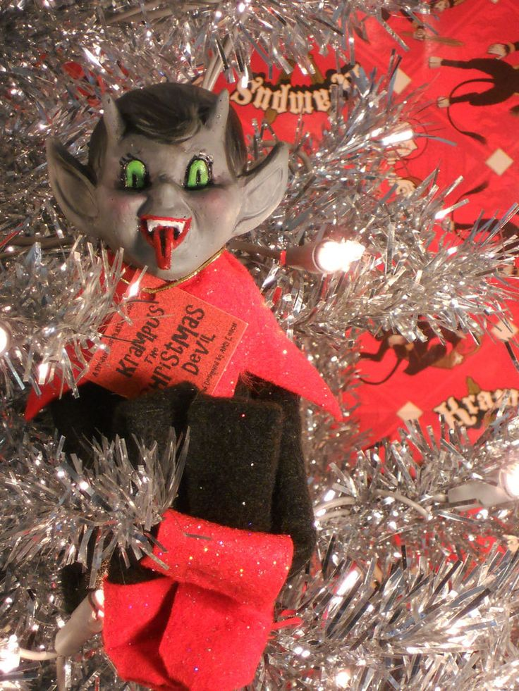 Screw Elf on a Shelf, my kids are getting a Krampus on a Kabinet! Joel and I were just talking about this...