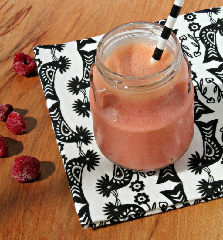 Raspberry & Carrot Smoothie: A great way to get some sneaky fruit and veggies into less than enthusiastic little ones!