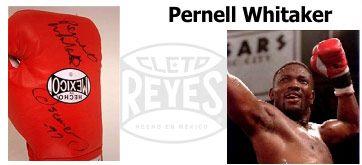 Перчатки Cleto Reyes, подписанные Пернеллом Виттакером.