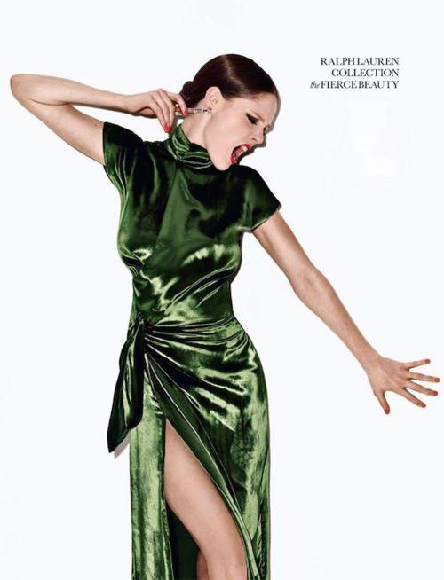 { Coco Rocha-Elle UK- Ralph Lauren } emerald x-d