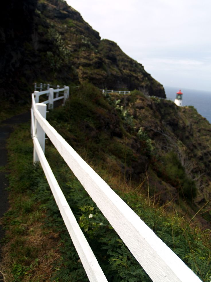 Path on the cliff to the lighthouse.