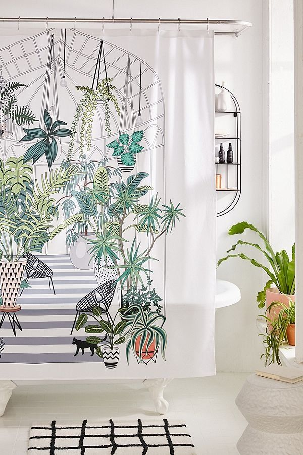 Anyuka For Deny Greenhouse Illustration Shower Curtain Cute