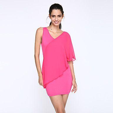 V Neck Mini Sleeveless Pink