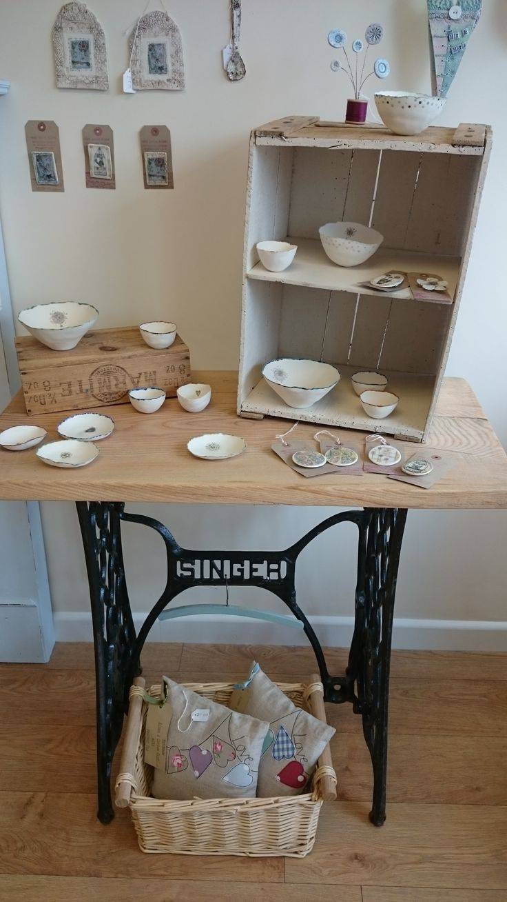 An old singer sewing table with a new purpose