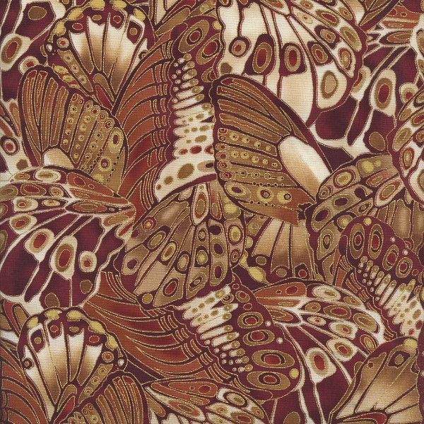 W792 Bronze Shimmer by Timeless Treasures - Packed Butterfly Wings - Rust