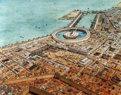 Reconstrucción de la ciudad de Cartago.