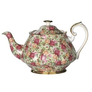 Old Country Roses Chintz...my favorite tea pot. You must come for tea!