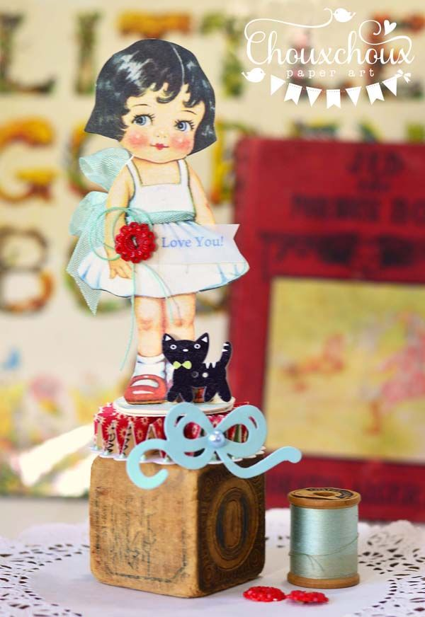 Free Vintage Paper Doll Images With Lori from Chouxchoux Paper Art - Free Pretty Things For You