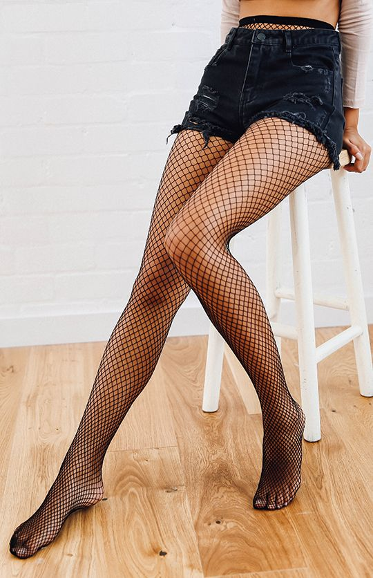 Skye Fishnet Stockings - Black from peppermayo.com
