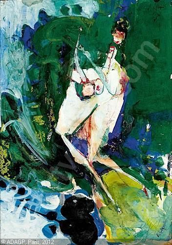 Paul rebeyrolle - figure abstraite