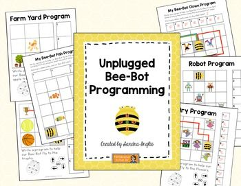 Students can use these worksheets to write programs for their Bee-Bots. The Bee-Bots must navigate a path to an item while avoiding other items. The worksheets range in difficulty from easy (only requiring a few steps) to more complex (more than one path is available to use).