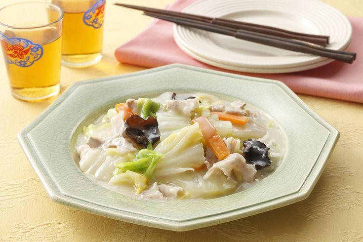 白菜のクリーム煮 シチューミクスが中華風にも