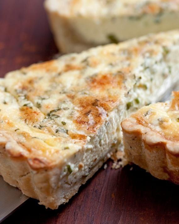 Herbed Quiche with Blue Cheese Recipe (make a friatta w/o crust)