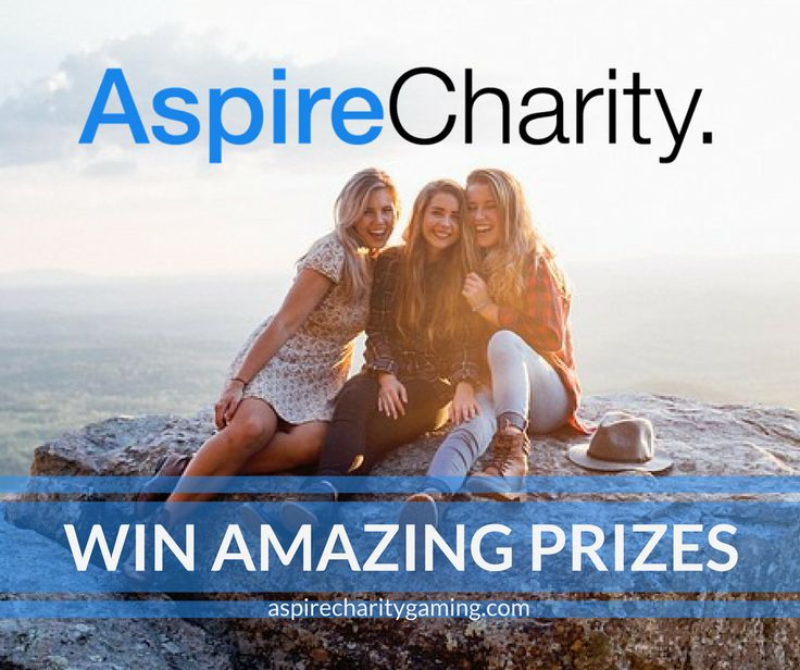 Just a click away from winning some amazing prizes! Win Big! https://aspirecharitygaming.com/  #aspirecharitygaming #WinBig #cantwinifyoudontplay